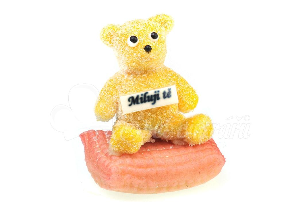Svtcukr marzipan figure of a teddy bear i love you pink marzipan figure of a teddy bear i love you pink altavistaventures Images