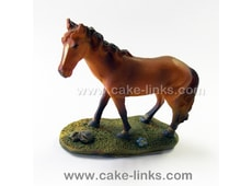 Figurka na dort - Dark Brown Horse