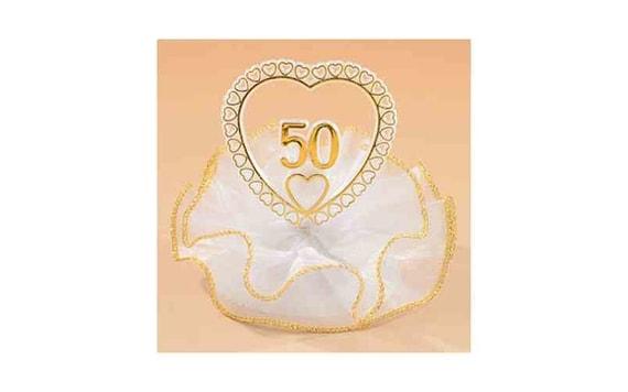 Zlata Svatba Cislo 50 V Srdci Modecor Figurky Svatebni