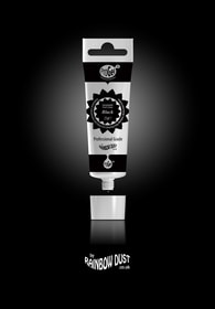 Rainbow Dust Black ProGel - profesionální potravinářská gelová barva v tubě (černá)