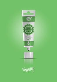 Rainbow Dust Bright green ProGel - profesionální potravinářská gelová barva v tubě (jasně zelená)