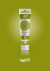 Rainbow Dust Olive green ProGel - profesionální potravinářská gelová barva v tubě (zelená)