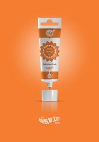 Rainbow Dust Orange ProGel - profesionální potravinářská gelová barva v tubě (oranžová)