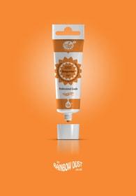 Rainbow Dust Tangarine ProGel - profesionální potravinářská gelová barva v tubě (oranžová)