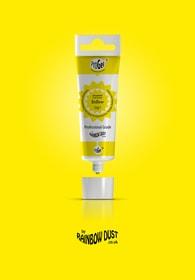 Rainbow Dust Yellow ProGel - profesionální potravinářská gelová barva v tubě (žlutá)