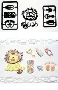 Patchwork Cutters Patchwork Baby Lion & Nursery Items (Lvíček a Kojenecké potřeby)