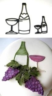 Patchwork Cutters Patchwork Bottle & Glass (Láhev a sklenice)
