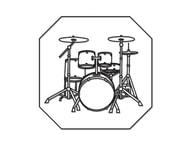 Patchwork Cutters Patchwork Drum Kit Plaque (Plaketa s bicími - bubny)