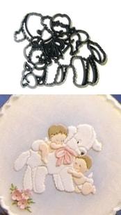 Patchwork Cutters Patchwork Lamb & Babies (Děti s jehňátkem)