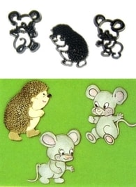 Patchwork Cutters Patchwork Mice & Hedgehog (Myši a ježek)