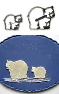 Patchwork Cutters Patchwork Polar Bears (Lední medvědi)
