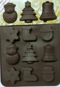 Silikonová forma na čokoládu vánoční