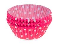 PME Papírové košíčky 50 x 30 mm (60 ks) - Růžové s puntíky