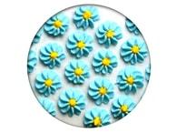 Frischmann Cukrová dekorace - Gerbery 28 ks modré