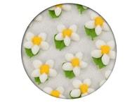 Frischmann Cukrová dekorace - Květy jednoduché s lístkem 35ks bílé