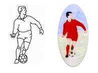 Patchwork Cutters Patchwork vytlačovač Fotbalista - Footballer