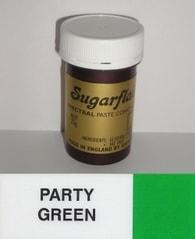 Sugarflair Colours Zelená gelová barva SGF Party Green