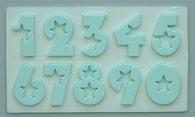 Alphabet Moulds Silikonová formička čísla (hvězdy)