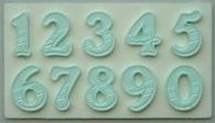 Alphabet Moulds Silikonová formička čísla s texturou
