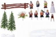 Modecor Figurky na dort Sněhurka a sedm trpaslíků