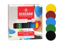 Renshaw Barevný rolovaný fondán sada základních barev