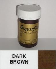 Sugarflair Colours Hnědá gelová barva SGF Dark Brown