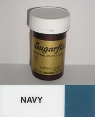 Sugarflair Colours Modrá gelová barva SGF Navy