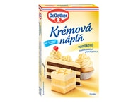 Dr. Oetker Dortová krémová náplň vanilková 65g