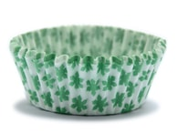 Podmix Papírové košíčky 50 x 30 mm (150 ks) - Zelené květinky