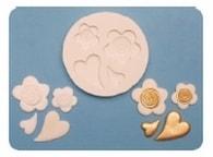 FPC Sugarcraft Silikonová formička Hearts & Flowers (Srdíčka a květinky) (Silikonová formička)