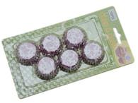 Papírové košíčky na muffiny/cupcake fialové květinky 150 ks (2,5x1,8 cm)