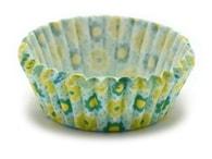 Podmix Papírové košíčky na muffiny/cupcake zelené květinky 150 ks (3,5x1,5 cm)