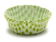 Podmix Papírové košíčky na muffiny/cupcake zelené káro 150 ks (3,5x1,5 cm)