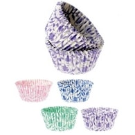 Modecor Papírové košíčky 35x50 (88ks) květinový vzor - 4 barvy