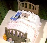 Čelo postele - patchwork